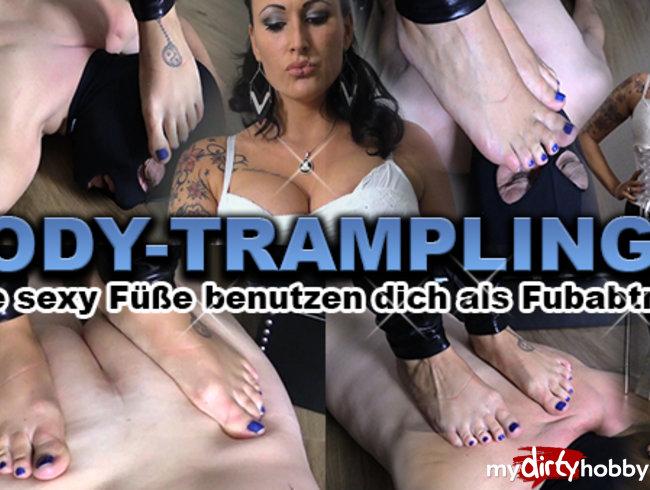 Bodytrampling! Meine sexy Füße nutzen dich als Abtreter!
