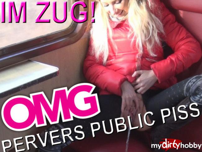 PERVERS PUBLIC PISS IM ZUG