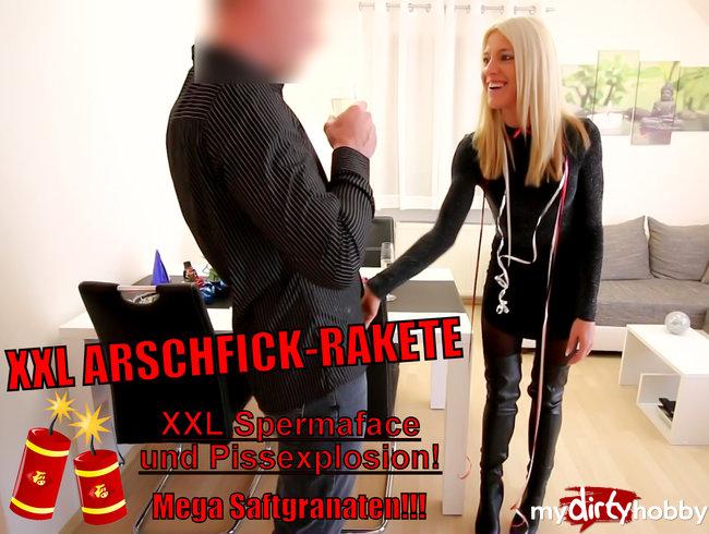 XXL Arschfick-Rakete mit Spermakracher + Sektexplosion!