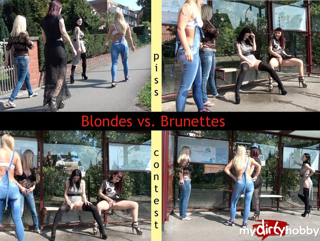 Blondes vs. Brunettes- wer pisst besser?