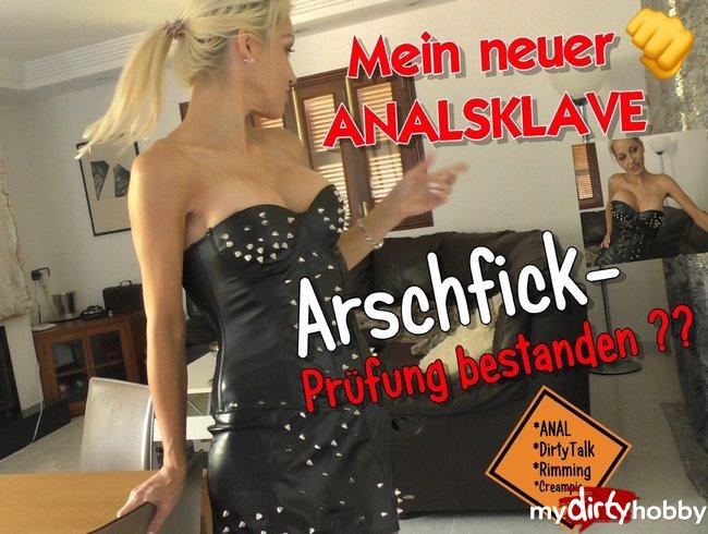 Mein neuer ANALSKLAVE : Arschfick-Prüfung bestanden ??
