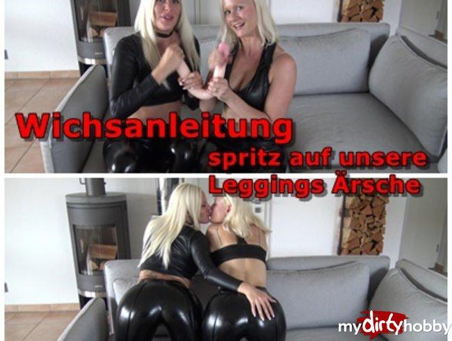 Wetlook Leggings Ärsche - komm spritz uns voll!!!