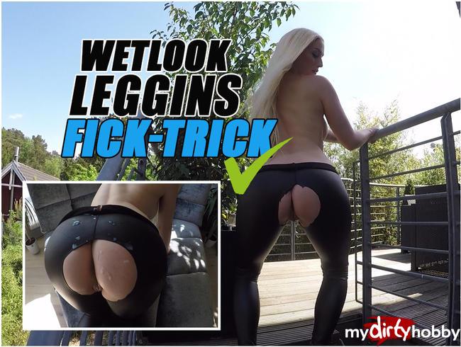 WETLOOK-LEGGINS-FICK-TRICK | DA SPRITZT DER JUNGSPUND MÄCHTIG! | LUCY CAT