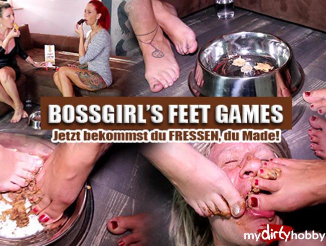 BOSSGIRLS FEET-GAMES! - Jetzt bekommst du dein Fressen, Made!!