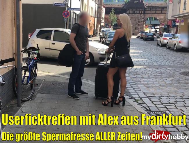 Userficktreffen mit Alex aus Frankfurt | Der MEGA REKORD Spritzer ALLER ZEITEN! XXXXXL Spermafresse!