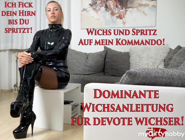 Dominante Wichsanleitung für devote Wichser   Ich FICK DEIN HIRN bis du spritzt!