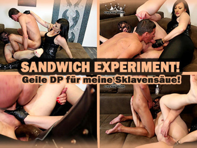 SANDWICH EXPERIMENT! - DP für die Sklavensäue!