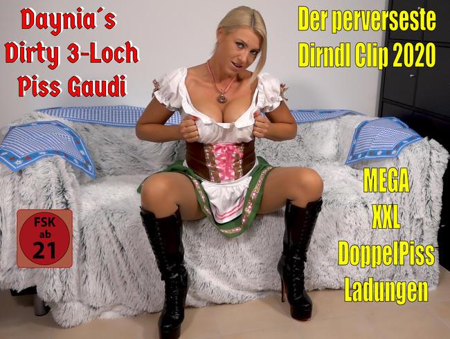 Der perverseste Dirndl Clip 2020   Daynia´s Dirty 3Loch Piss Gaudi! O´PISST is...