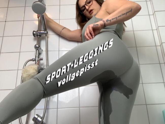 Neue Sport-Leggings vollgepisst