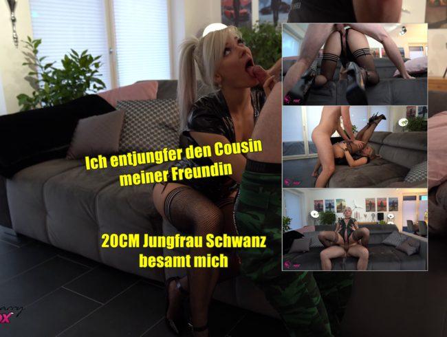 20cm Jungfrau Schwanz besamt mich. Cousin meiner Freundin AO-entjungfert.