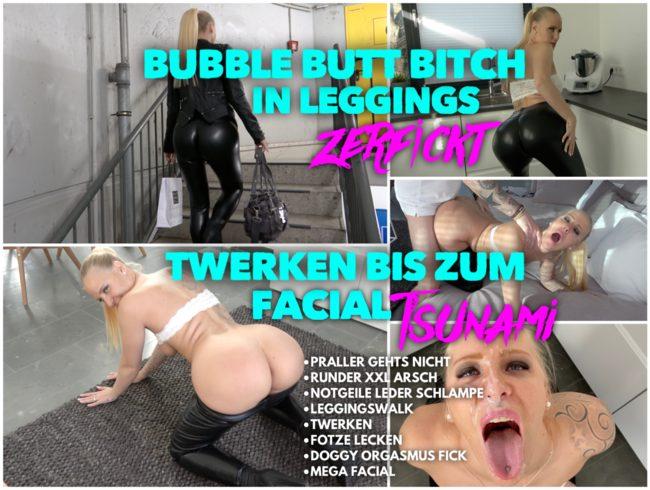 PRALL ARSCH BITCH in Leggings zerfickt | TWERKEN bis zum FACIAL Tsunami