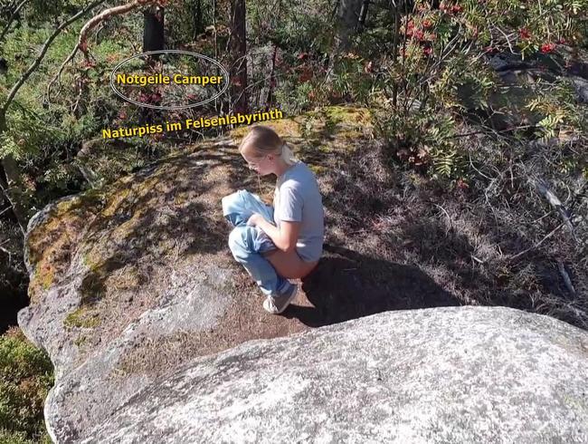 Naturpiss im Felsenlabyrinth