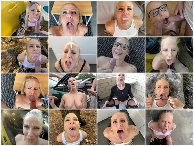 25 Gesichtsbesamungen, Spermaspiele und Schlucken | BEST OF FACIAL 2020