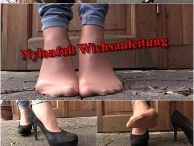 Nylon Fuß Wichsanleitung
