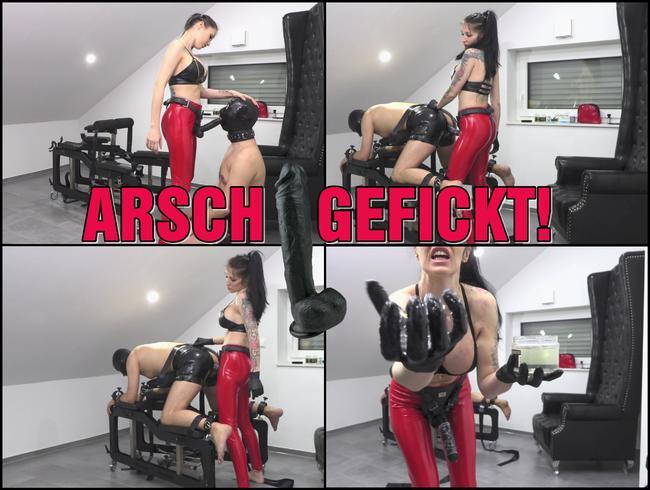 ARSCH GEFICKT | Latex Analsau wird tief in Maul und Arsch gefickt