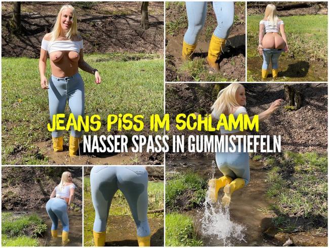 JEANS PISS im Schlamm | Nasser Spass in GUMMISTIEFELN