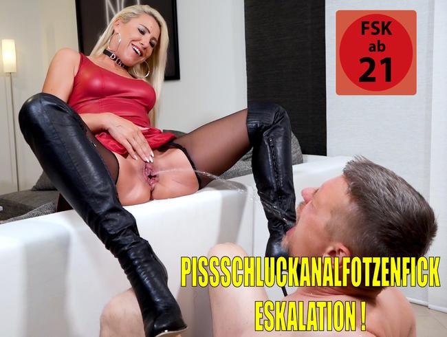 Der versaute XXL Pisseschlucker | Der Kumpel von Klaus durfte dann auch mal alle Löcher ficken...!