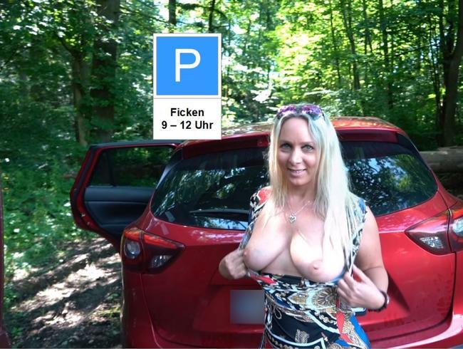 Der Parkplatz Ficktreff der verbumsten Schlampen, public