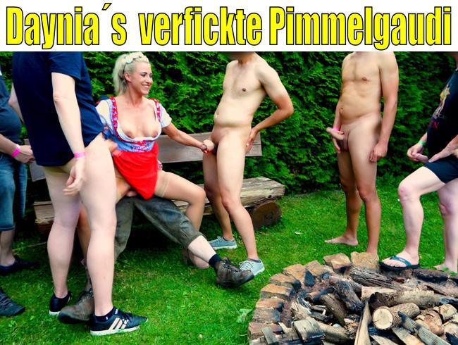 Daynia´s verfickte Pimmelgaudi | SpermaFickorgie für die Dirndlschlampe...!