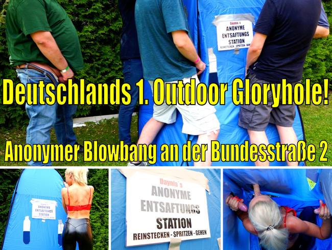 Deutschlands 1. Outdoor Gloryhole | Anonymer Blowbang an der Bundesstrasse 2!