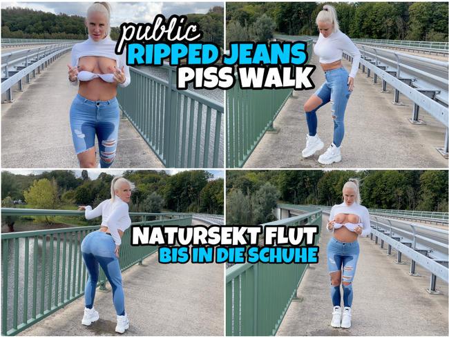 Public JEANS PISS Walk | NS Flut bis in die Schuhe