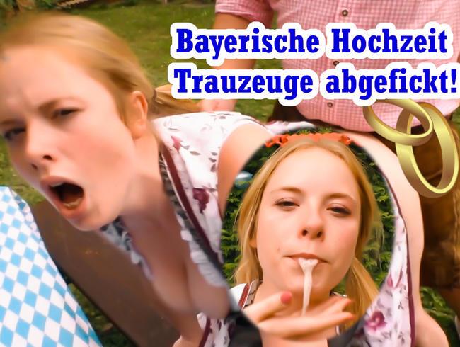 Bei bayerischer Hochzeit Quickie mit Trauzeuge